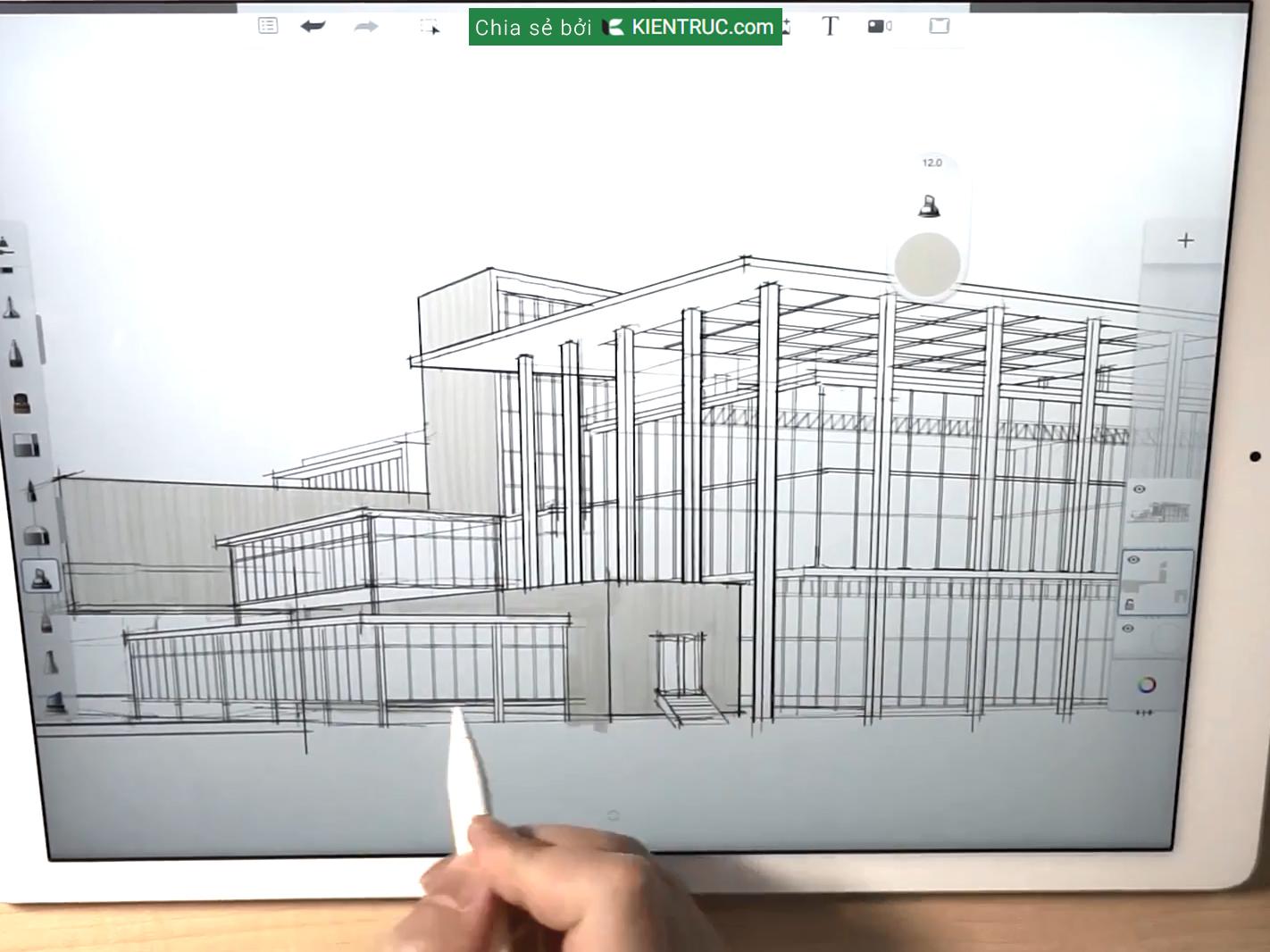 Ứng dụng cho kiến trúc Sketch
