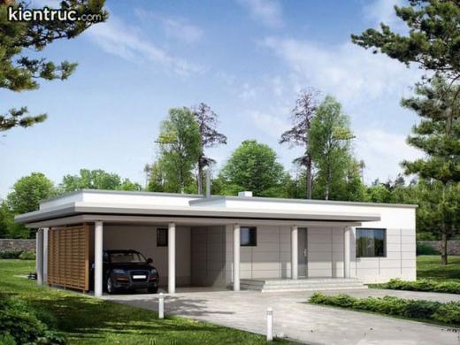 Nhà cấp 4 mặt tiền 7m mái bằng