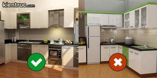 Cách bố trí bếp nấu và bồn rửa