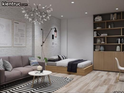 Nội thất chung cư mini được bố trí rất linh hoạt