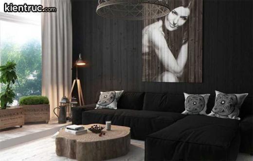 Sử dụng một bức ảnh nghệ thuật làm điểm nhấn cho căn hộ