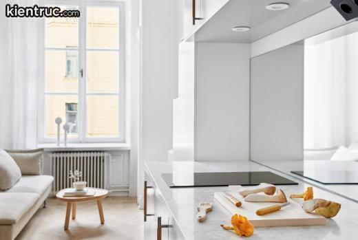 Mẫu thiết kế căn hộ mini nhưng khá là sang trọng