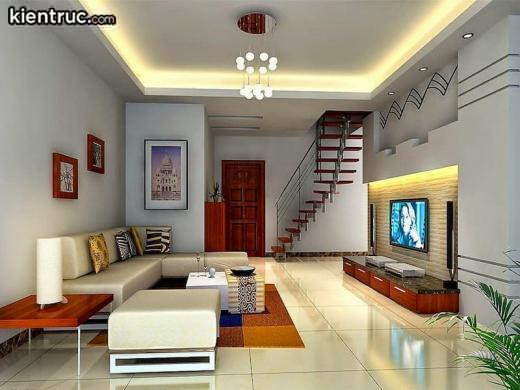 Phòng khách nhà ống 4m cho những ngôi nhà có diện tích nhỏ