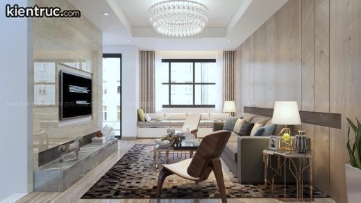 Phòng khách nhà ống 6m được hấp thụ nhiều ánh sáng từ bên ngoài
