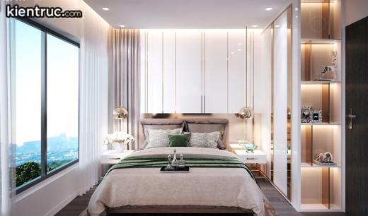 Phòng ngủ với thiết kế sang trọng trong một chung cư dành cho người mệnh Hỏa