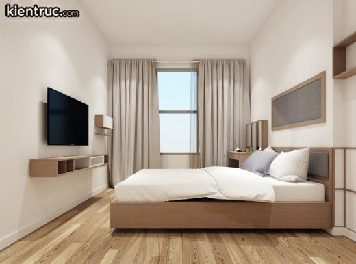 Gam màu hồng phấn dịu nhẹ được lấy làm chủ đạo trong thiết kế phòng ngủ dành cho người mệnh Hỏa