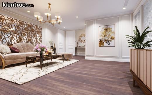 Căn phòng được thiết kế sang trọng với phần sàn gỗ rất tương sinh với người mệnh Hỏa