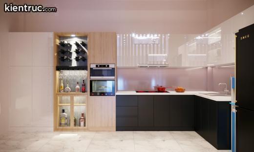 Chủ nhà mệnh Hỏa hợp màu gì? – Một gợi ý hay ho là màu tím nhạt cho căn bếp