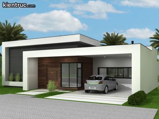 Phong cách hiện đại khá được yêu thích và tin tưởng với nhà 1 tầng