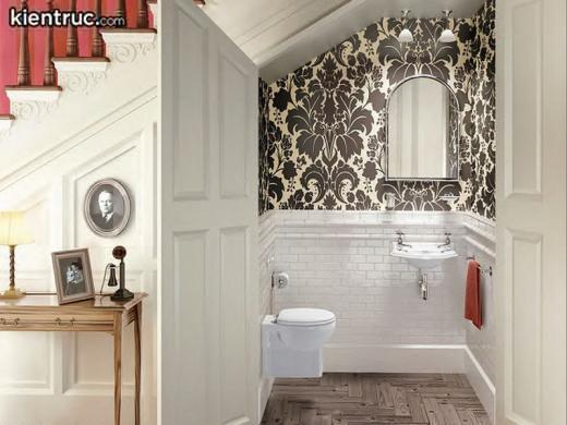 Thiết kế nhà vệ sinh dưới gầm cầu thang sẽ không phù hợp với những căn nhà có diện tích lớn
