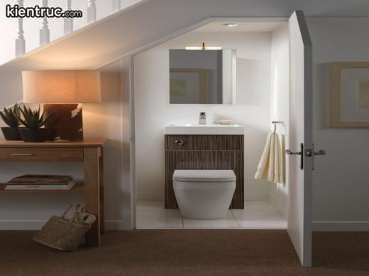 Việc thiết kế nhà vệ sinh dưới gầm cầu thang chỉ nên trong một số điều kiện bắt buộc
