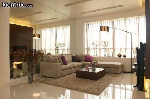 Phòng khách căn hộ chung cư cao cấp luôn được thiết kế để đón ánh sáng tự nhiên.