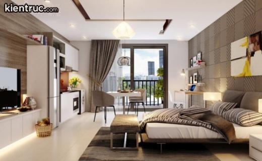 Mẫu căn hộ đầy đủ tiện nghi, thoáng mát