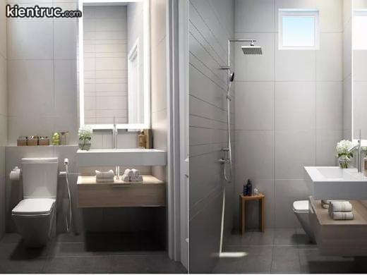 Phòng tắm phong cách hiện đại có tiện nghi đầy đủ và tiện lợi