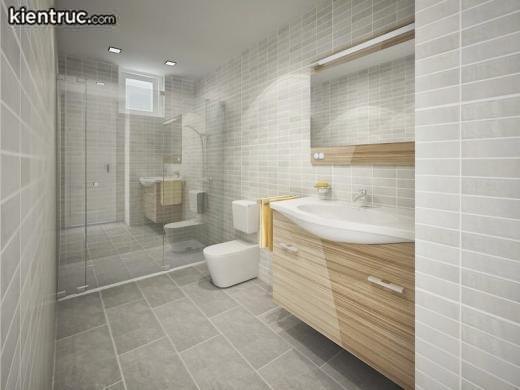 Phòng tắm đơn giản mà đẹp theo phong cách hiện đại gia chủ nên lựa chọn
