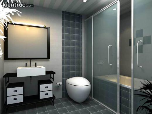 Thiết kế nhà tắm đẹp đơn giản bắt mắt, hiện đại