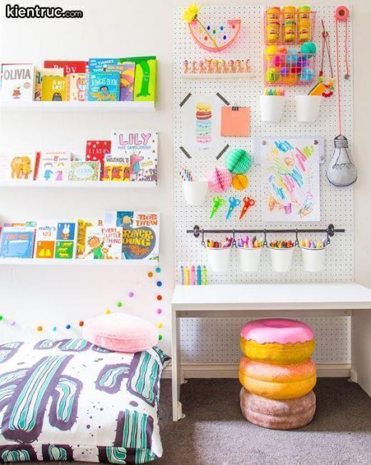 """Thiết kế nội thất phòng ngủ """"tông xuyệt tông"""" dành cho bé"""