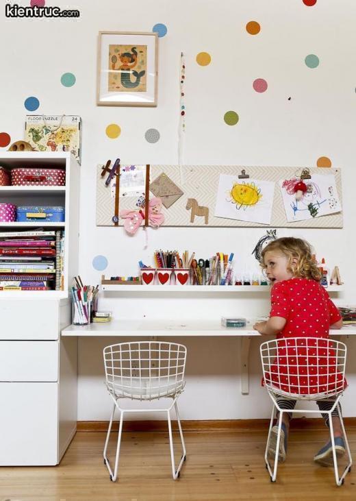 Một không gian đầy nữ tínhtrong một mẫu thiết kế phòng ngủ cho bé gái