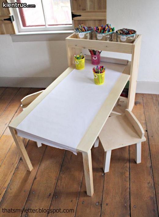 Chiếc bàn học vẽ đầy sáng tạo dành cho trẻ