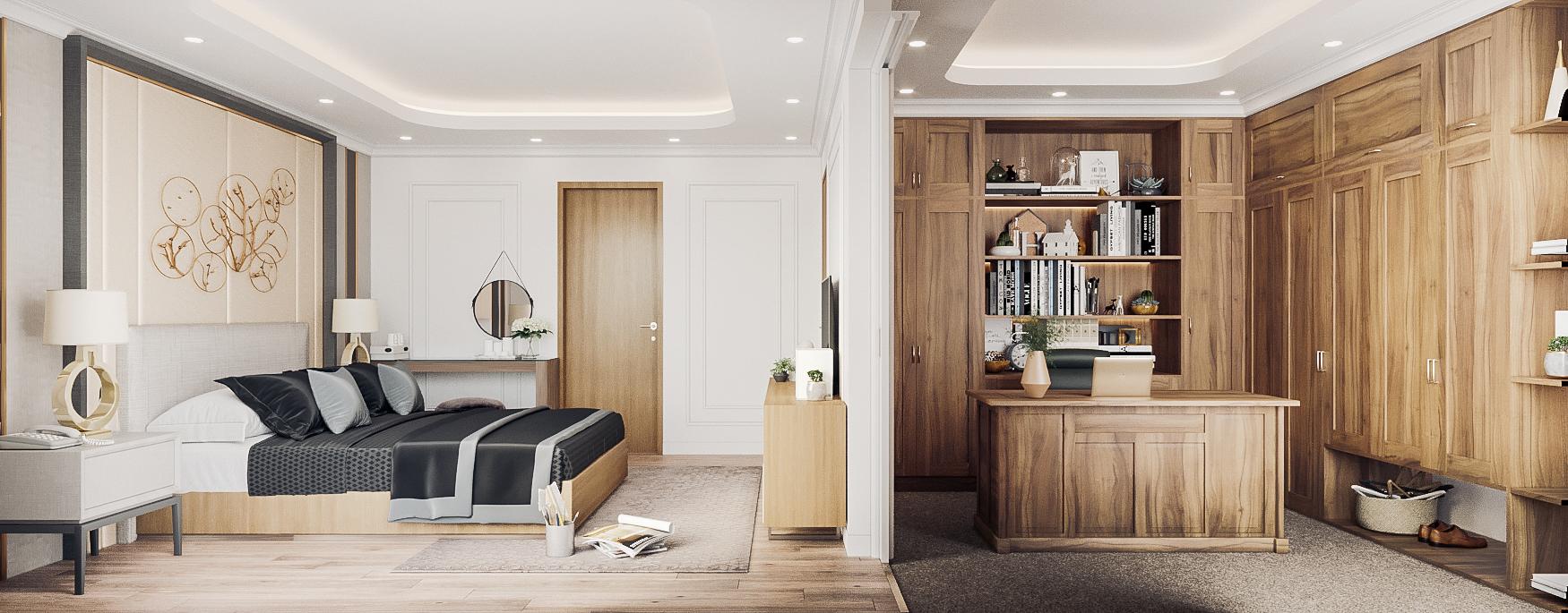 thiết kế nội thất chung cư tại Đà Nẵng Phòng ngủ master 1 1555242082