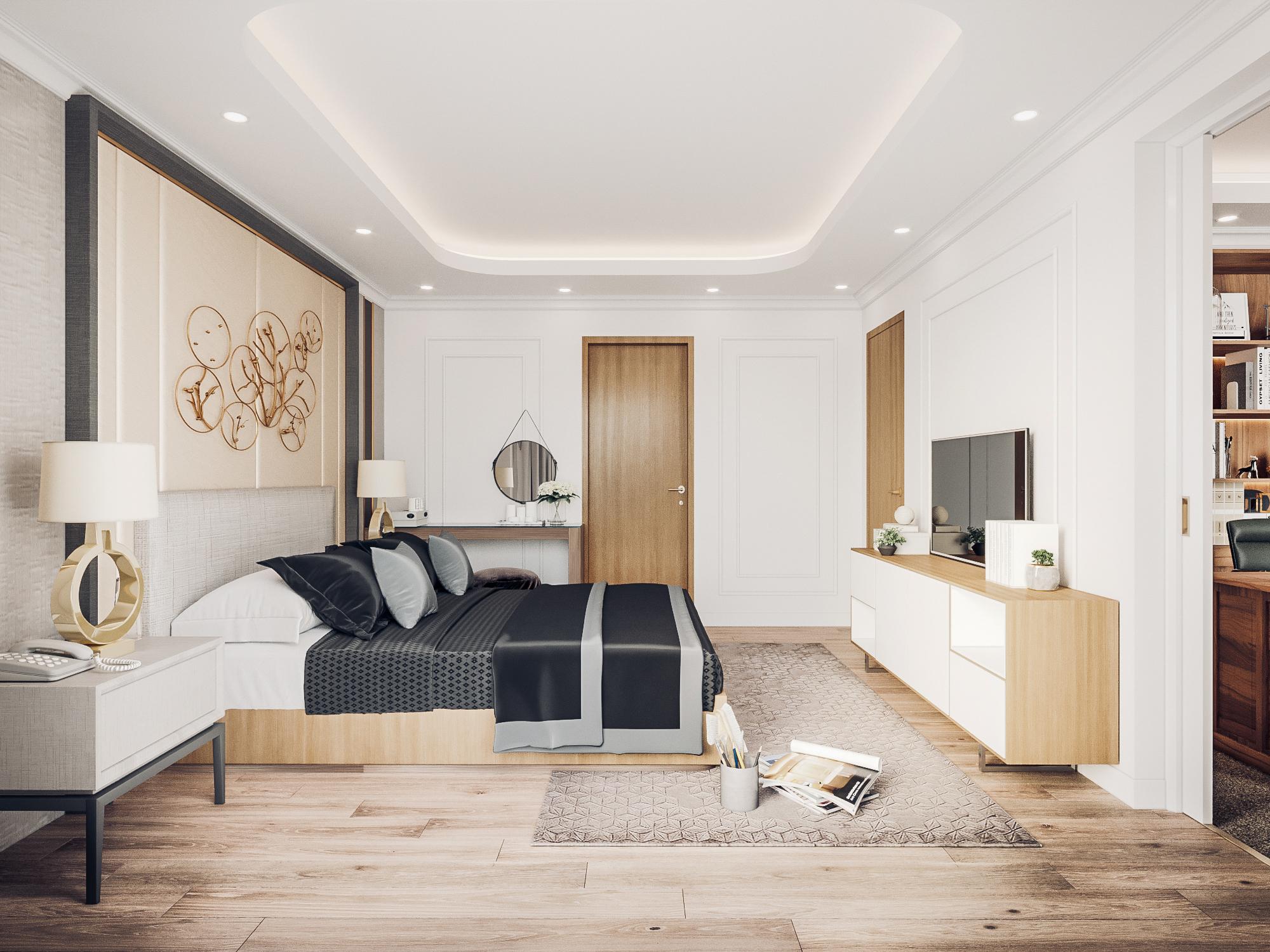 thiết kế nội thất chung cư tại Đà Nẵng Phòng ngủ master 2 1555242084