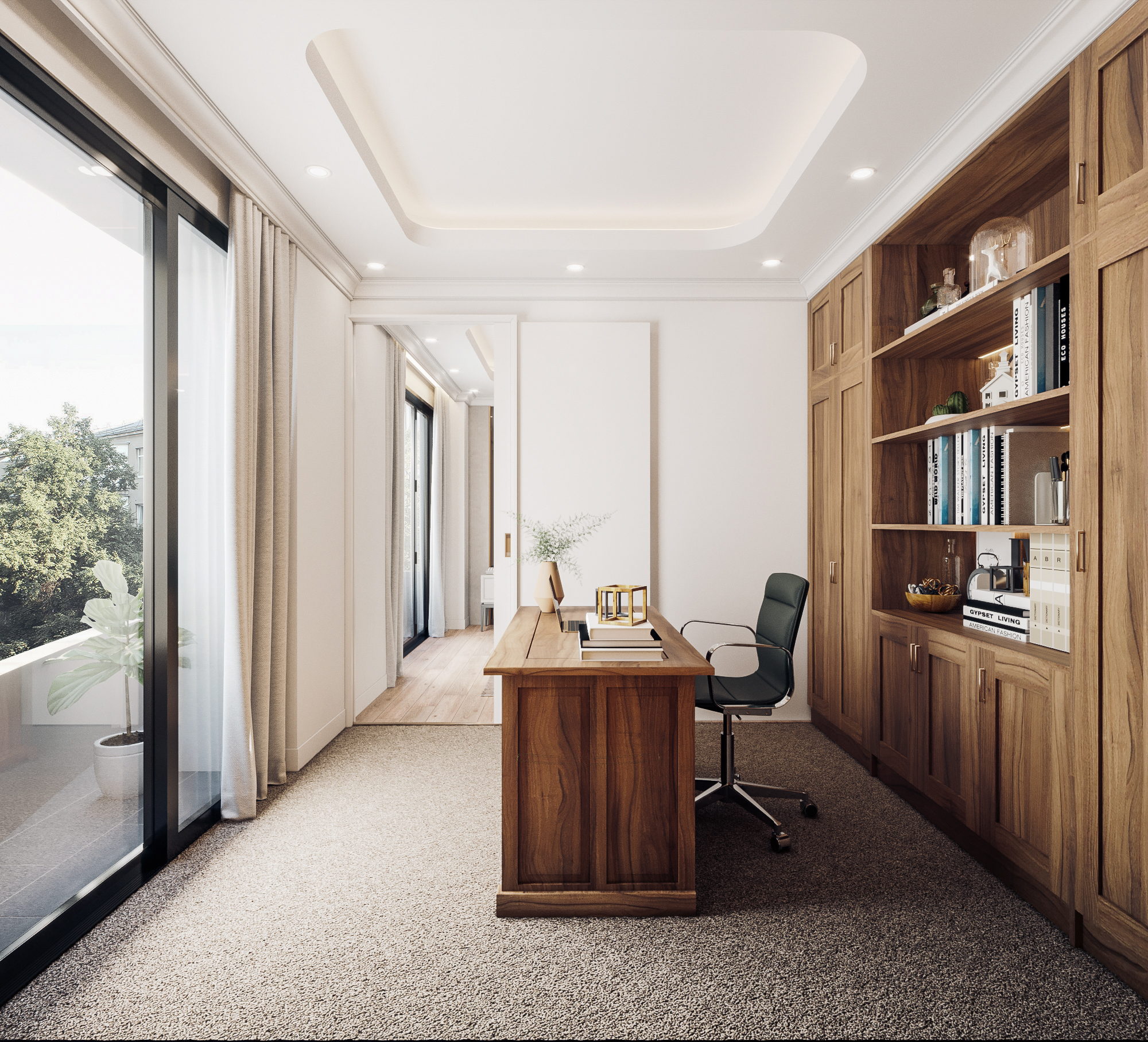thiết kế nội thất chung cư tại Đà Nẵng Phòng ngủ master 3 1555242085