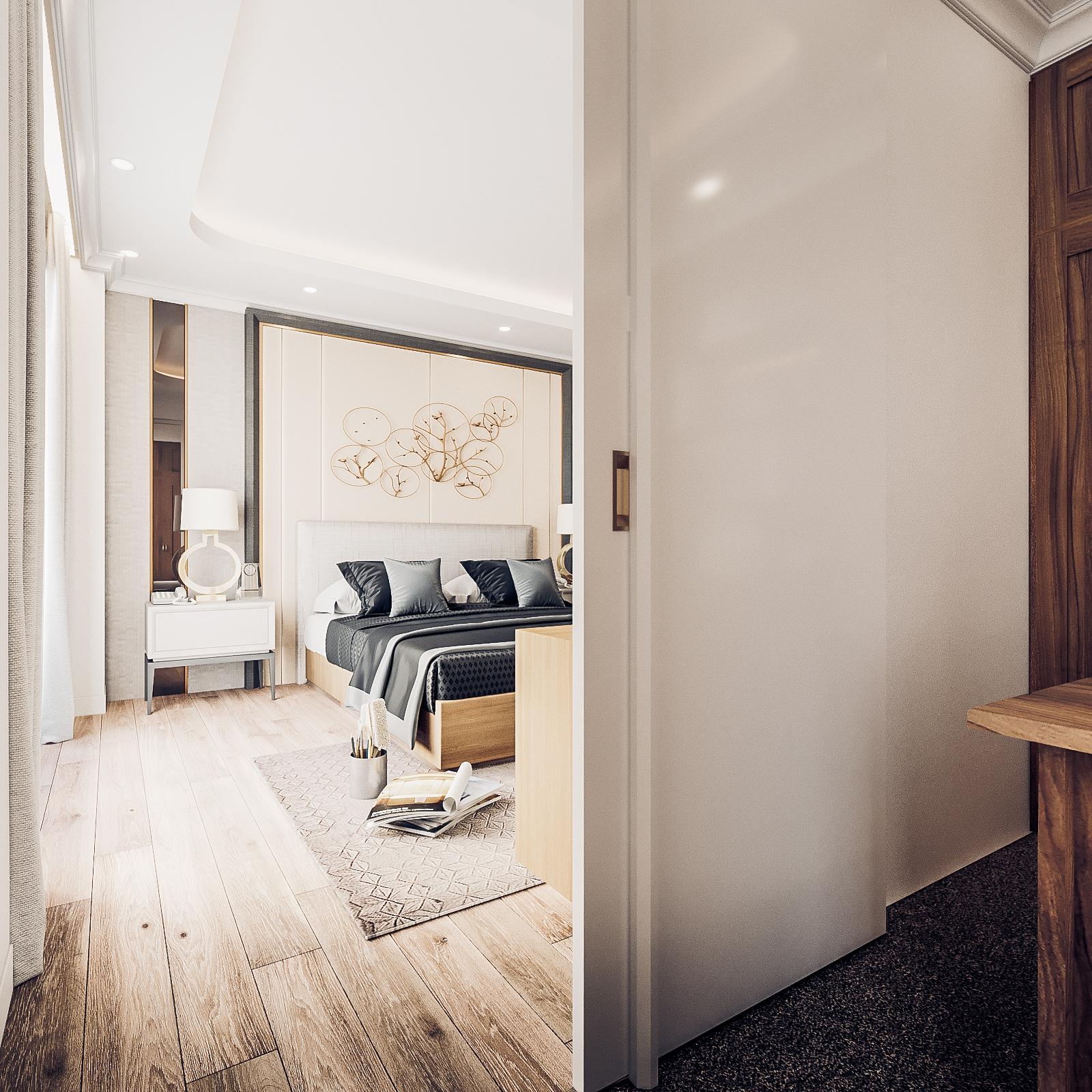 thiết kế nội thất chung cư tại Đà Nẵng Phòng ngủ master 4 1555242083