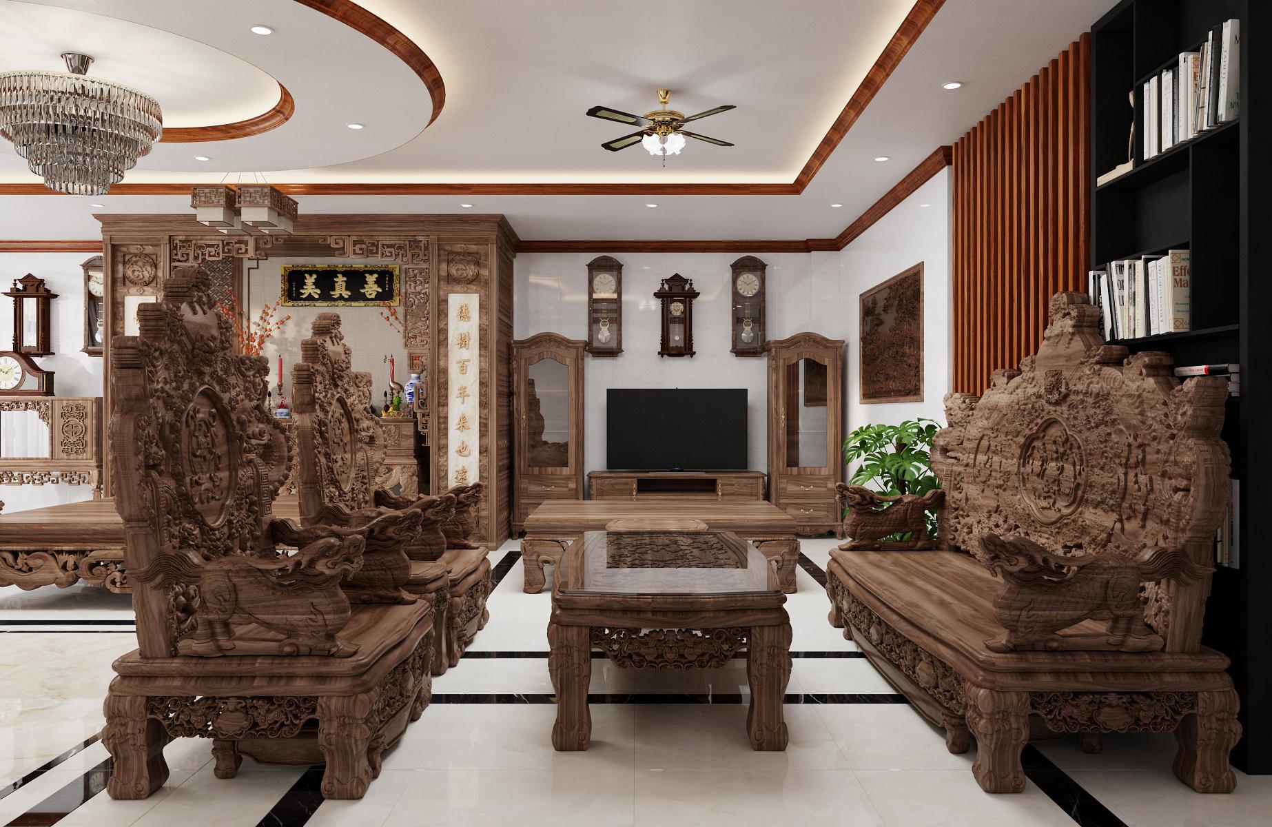 Thiết kế nội thất Biệt Thự tại Nam Định Living House 1573645676 7