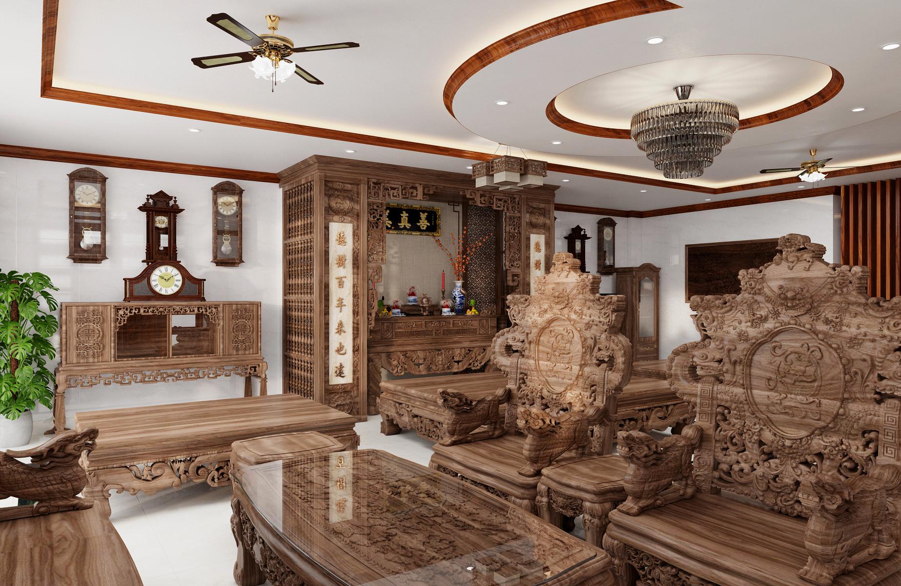 Thiết kế nội thất Biệt Thự tại Nam Định Living House 1573645677 6
