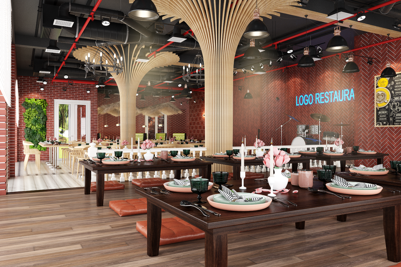 thiết kế nội thất Nhà Hàng tại Hà Nội Nhà hàng - Massage 1 1550809512
