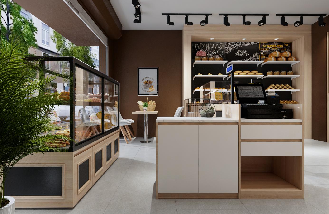 Thiết kế nội thất Nhà Hàng tại Hà Nội Đức Liên Bakery 1573645797 2