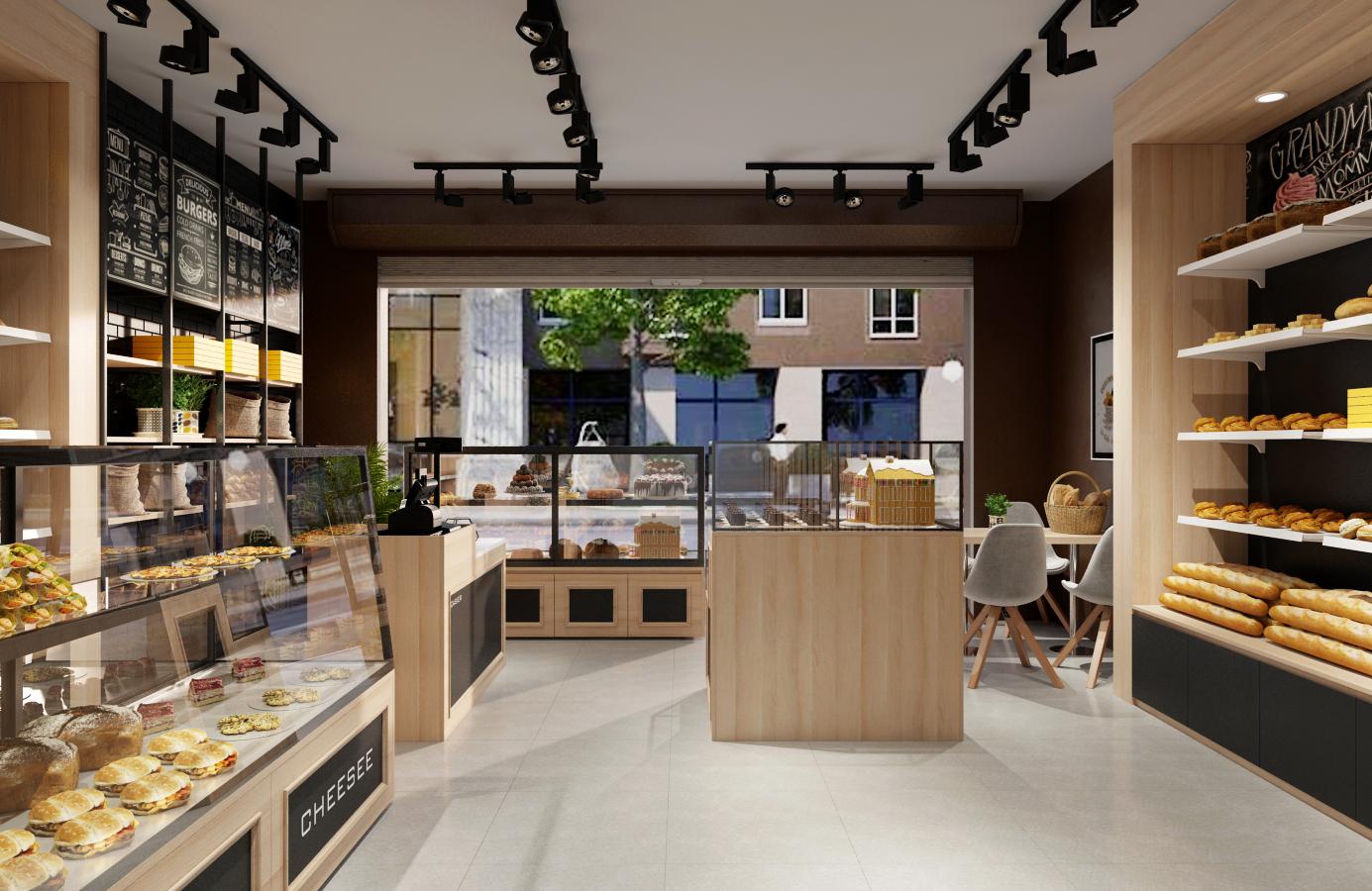 Thiết kế nội thất Nhà Hàng tại Hà Nội Đức Liên Bakery 1573645797 4