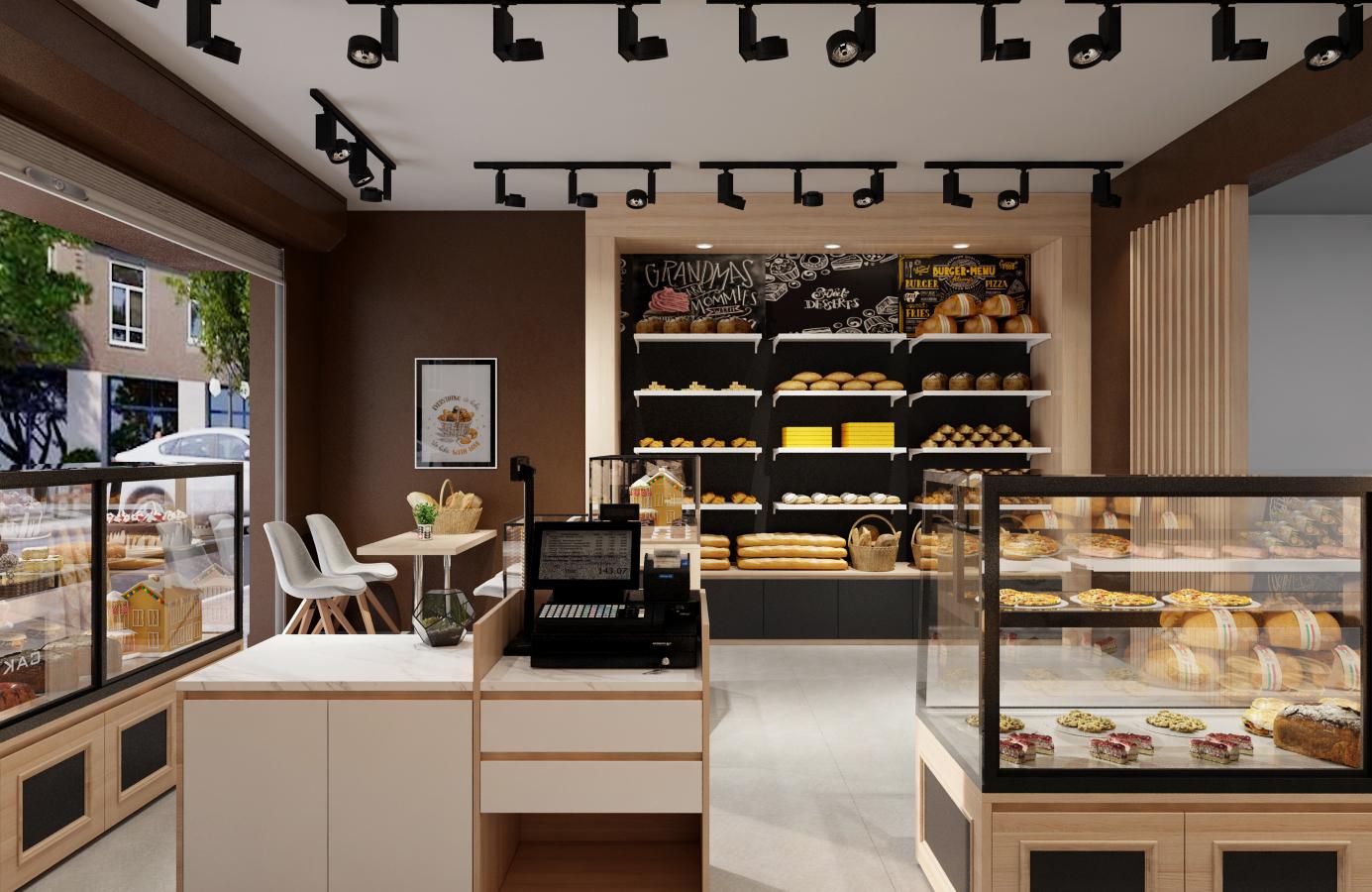 Thiết kế nội thất Nhà Hàng tại Hà Nội Đức Liên Bakery 1573645797 6