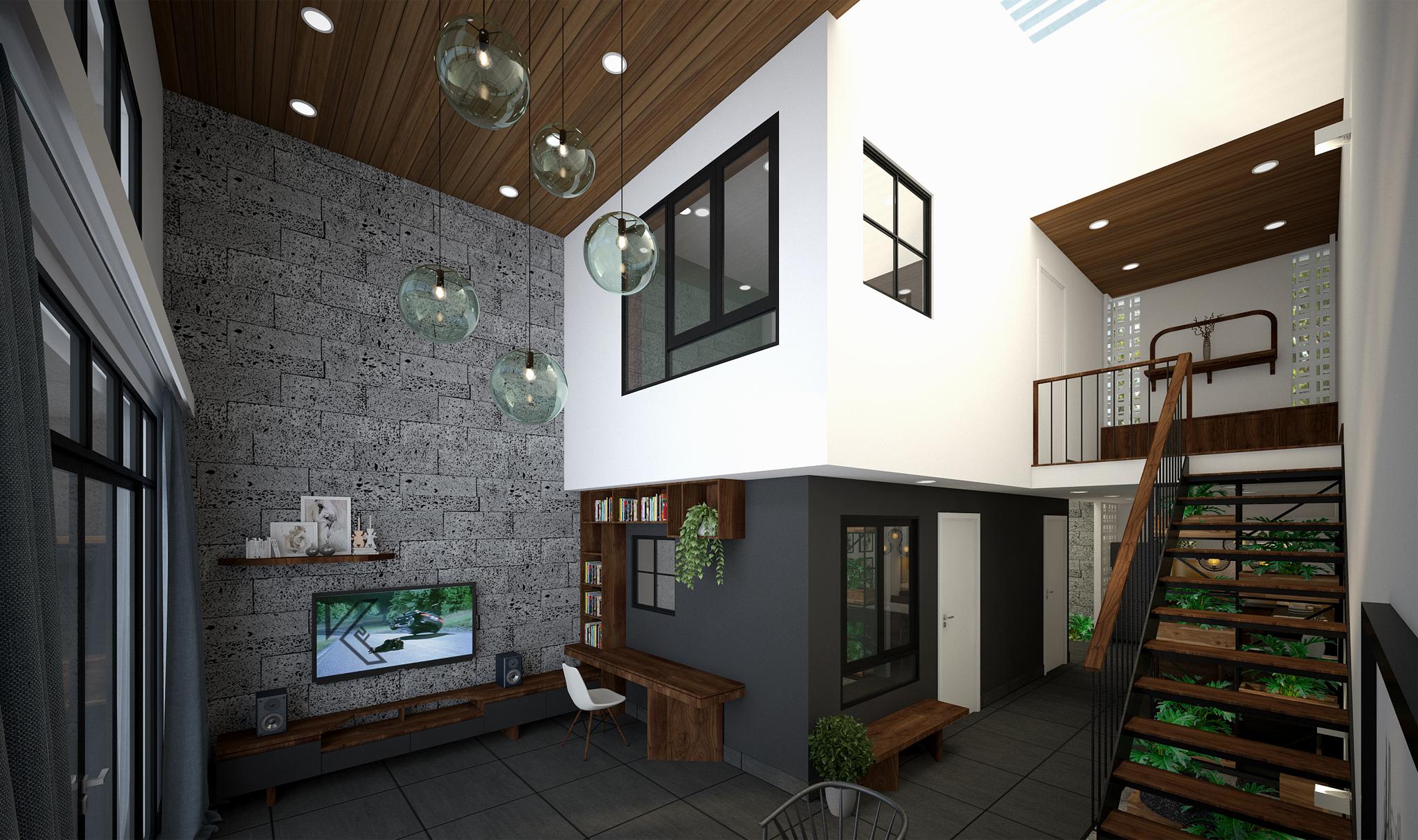 Thiết kế Nhà Mặt Phố tại Khánh Hòa NHÀ THẰNG BẠN 1576921425 4