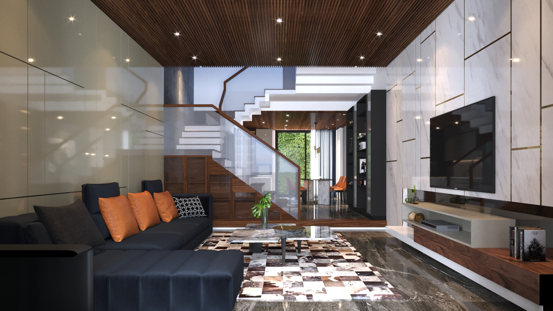thiết kế Nhà Mặt Phố 3 tầng tại Đà Nẵng N house 1 1555265733