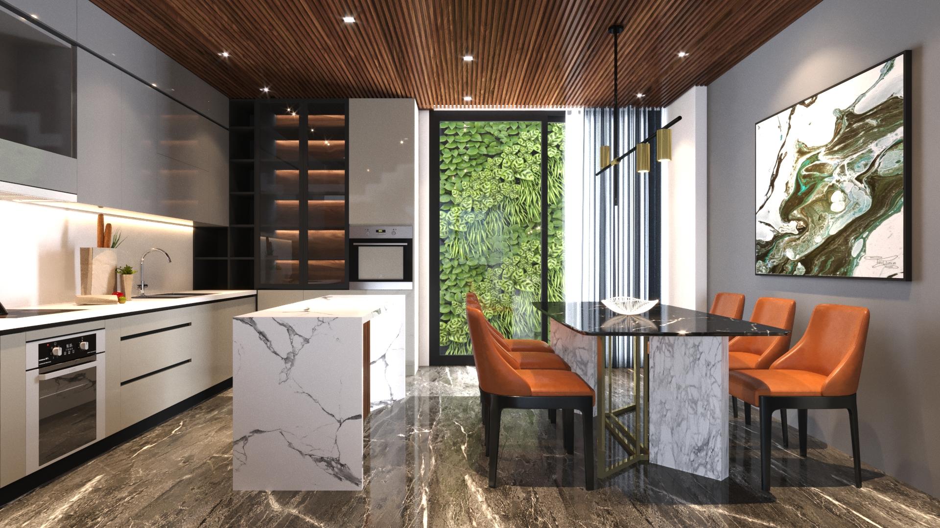 thiết kế Nhà Mặt Phố 3 tầng tại Đà Nẵng N house 2 1555265733