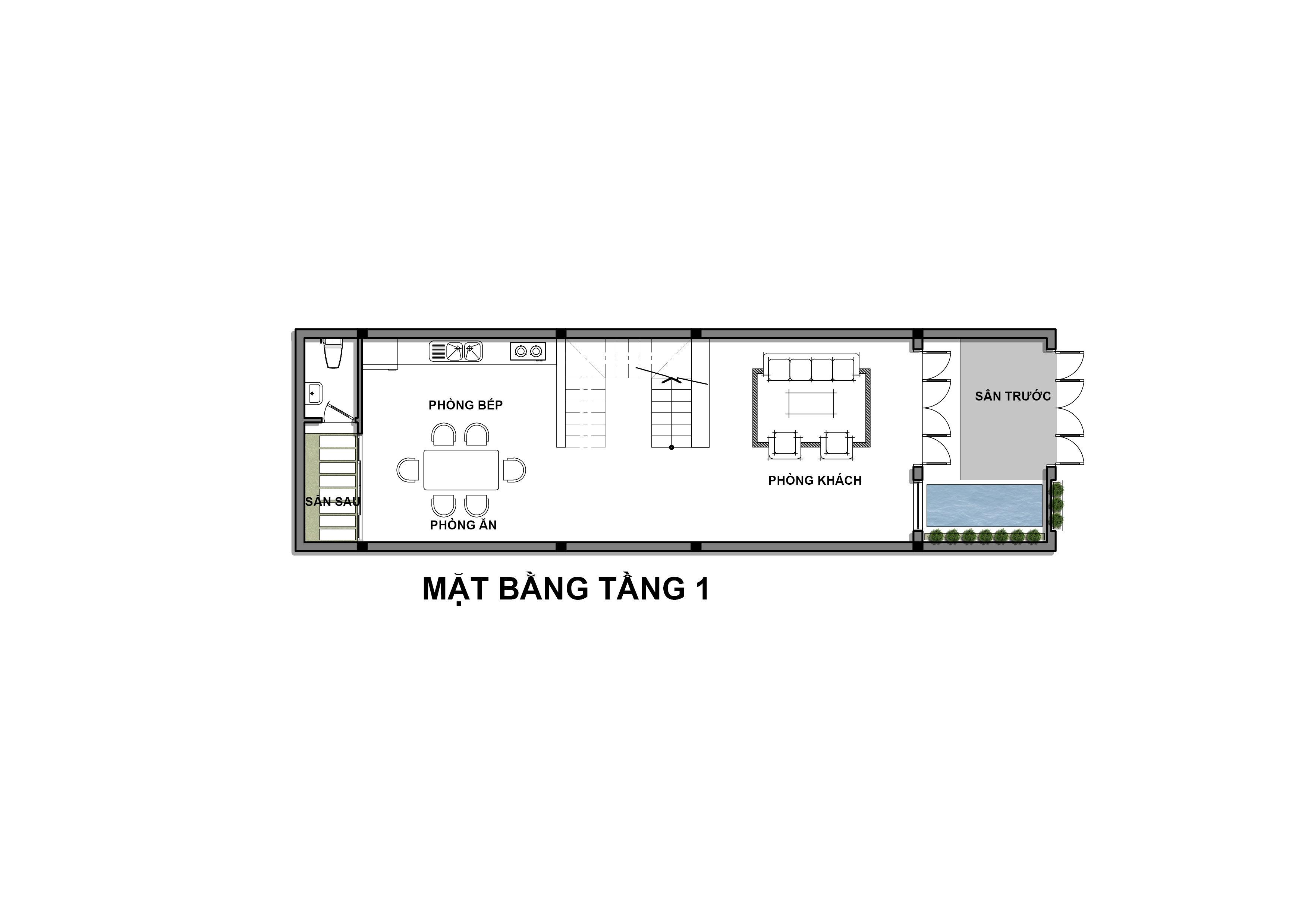 Thiết kế Nhà Mặt Phố tại Hồ Chí Minh Nhà Phố TA HOUSE 1625739815 7