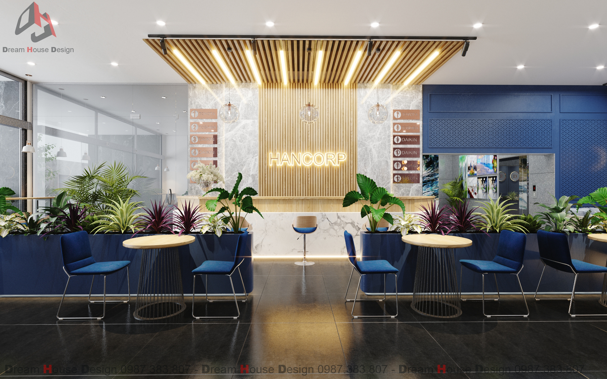 thiết kế nội thất Văn Phòng tại Hà Nội SẢNH VĂN PHÒNG TÒA NHÀ HANCORP PLAZA 1 1553137334