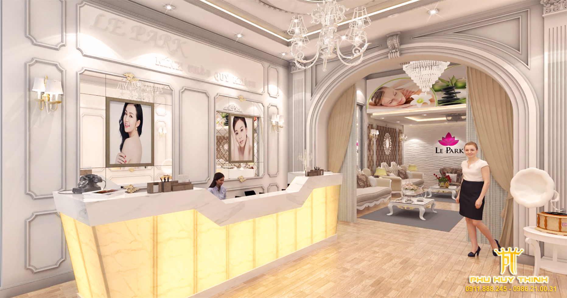 thiết kế nội thất Spa tại Đà Nẵng Le Park Spa 2 1537532052