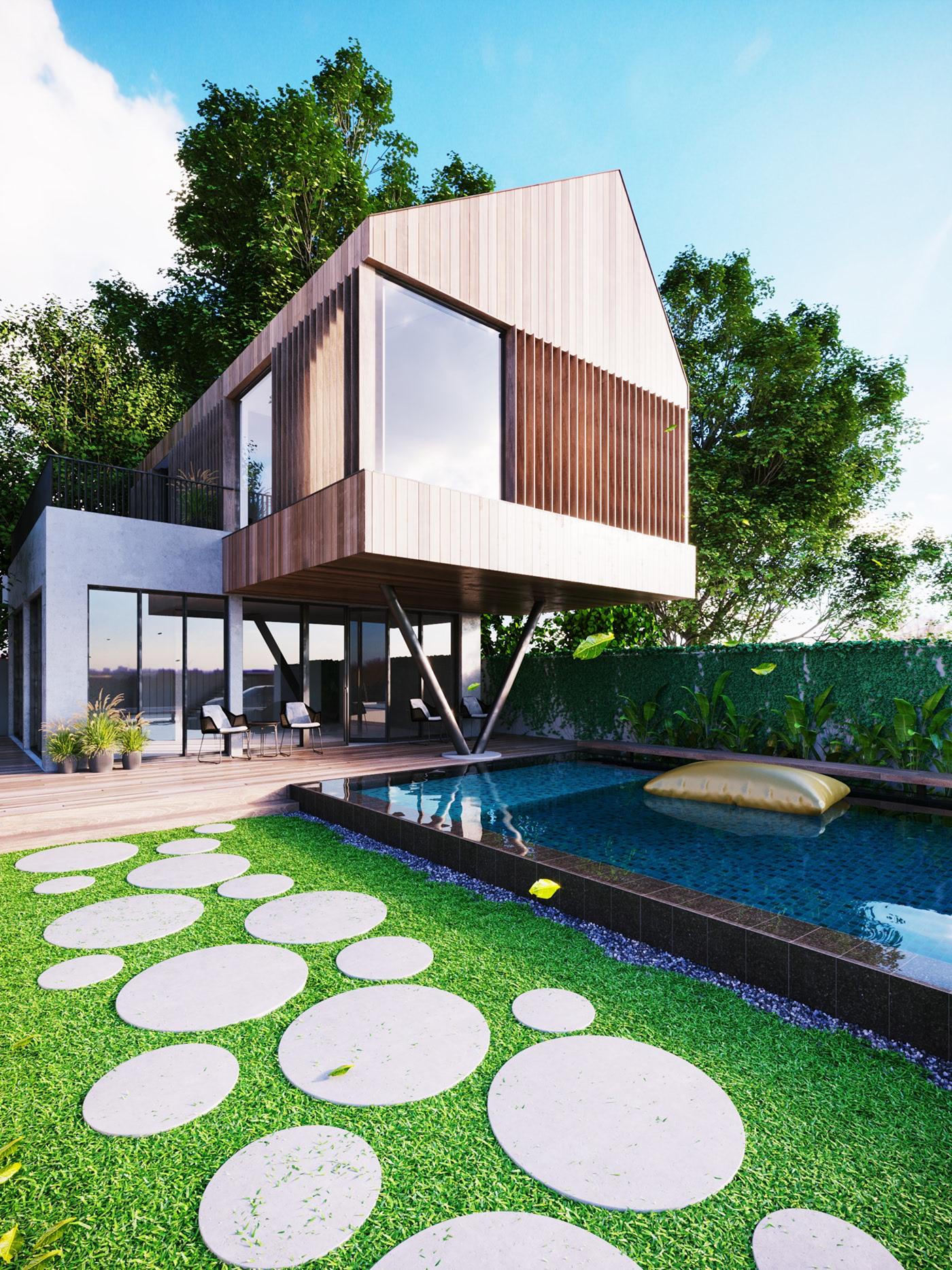 Thiết kế nội thất Biệt Thự tại Long An villa gia phú viên 1573618030 0
