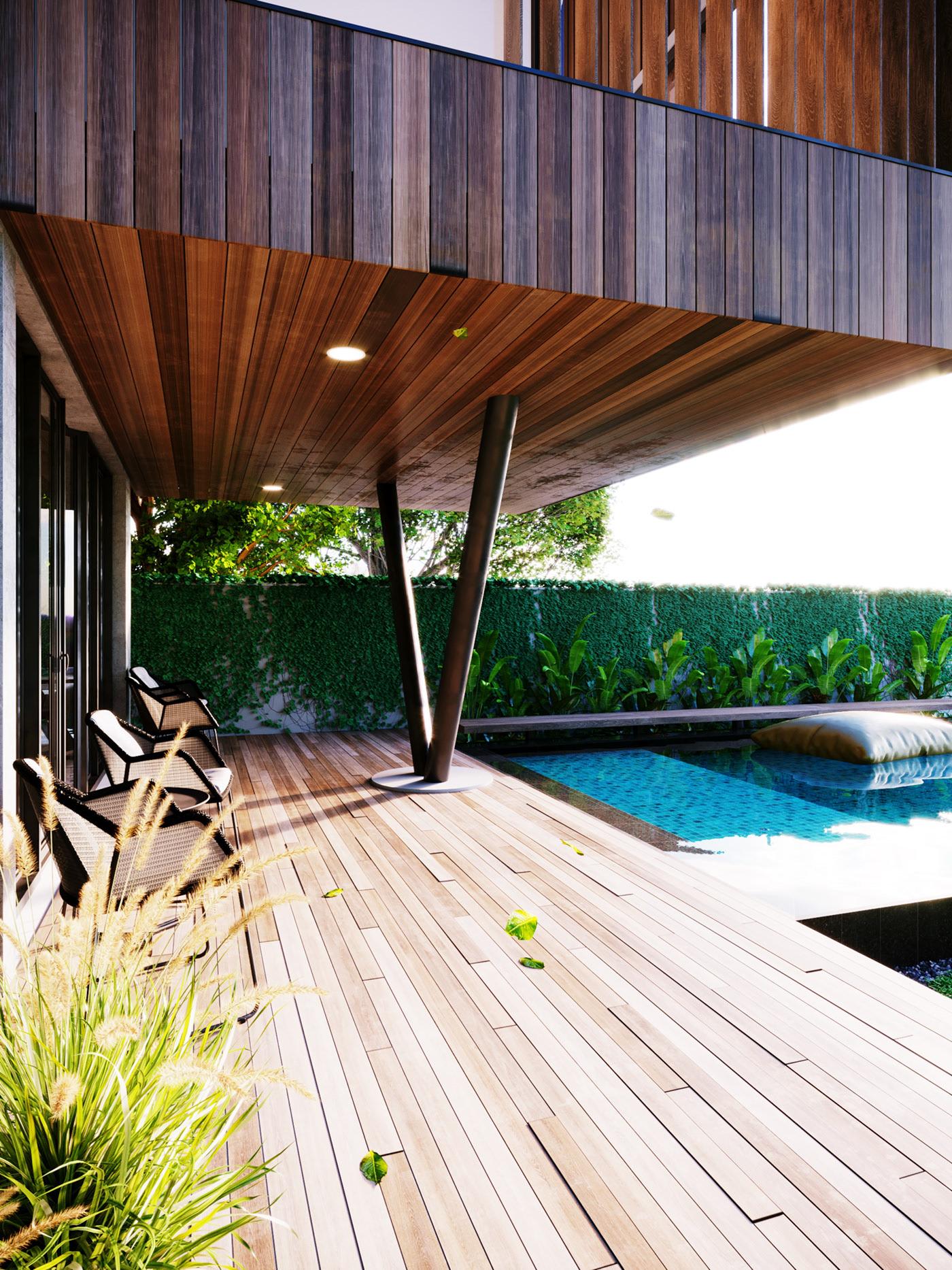 Thiết kế nội thất Biệt Thự tại Long An villa gia phú viên 1573618032 1