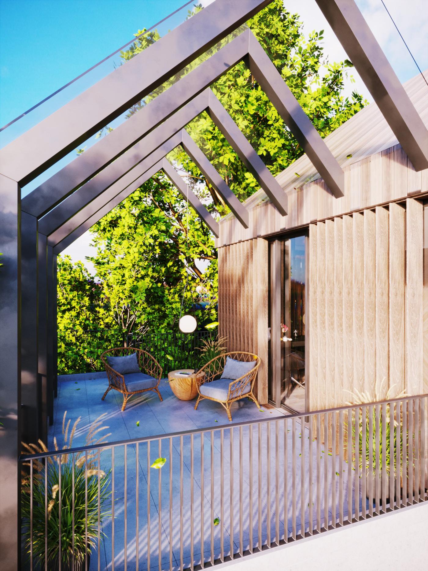 Thiết kế nội thất Biệt Thự tại Long An villa gia phú viên 1573618032 5