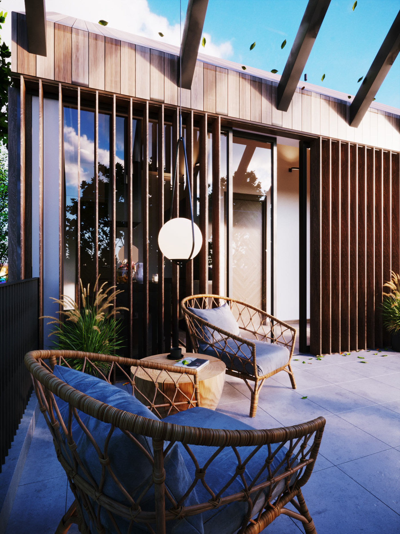 Thiết kế nội thất Biệt Thự tại Long An villa gia phú viên 1573618033 10