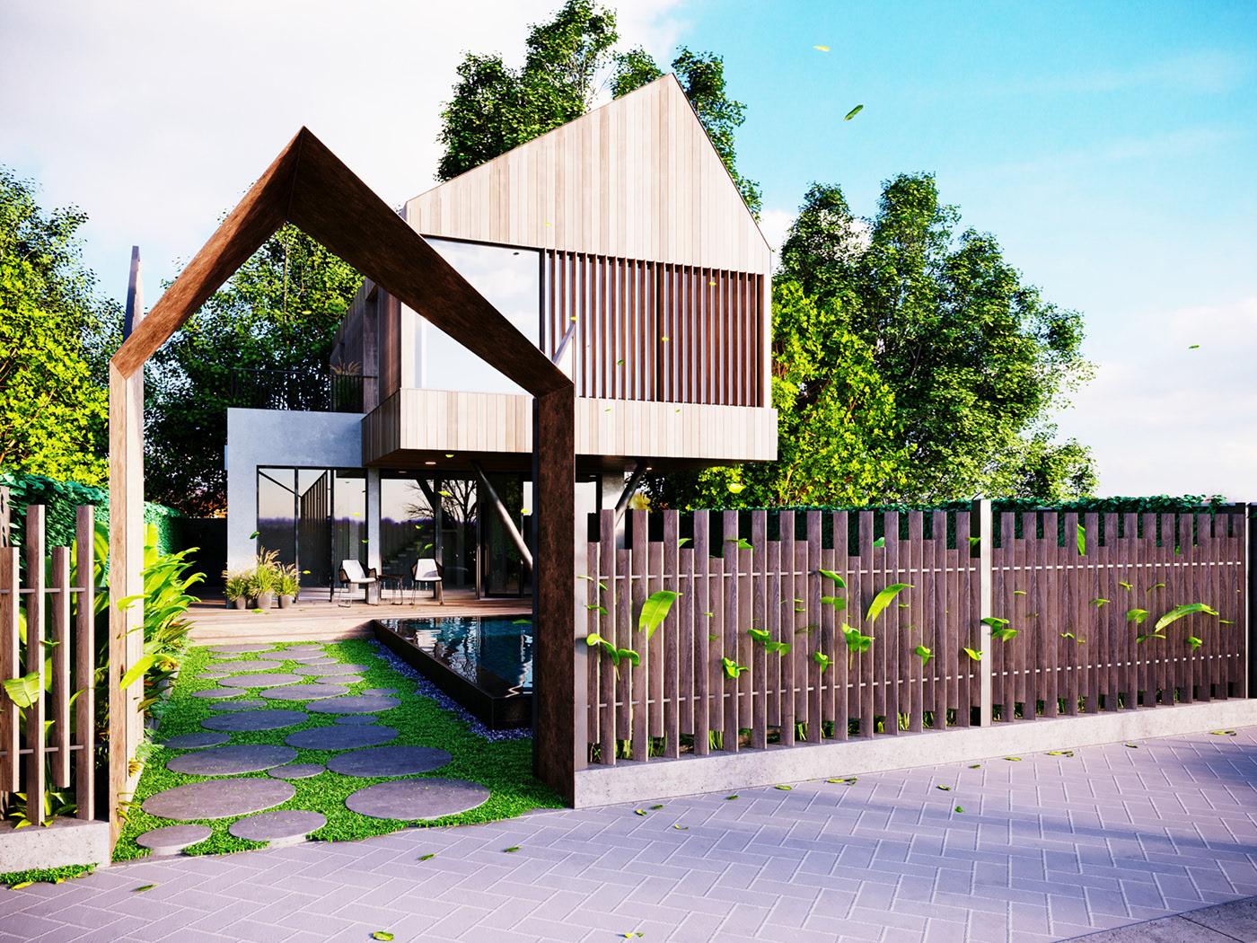Thiết kế nội thất Biệt Thự tại Long An villa gia phú viên 1573618033 9
