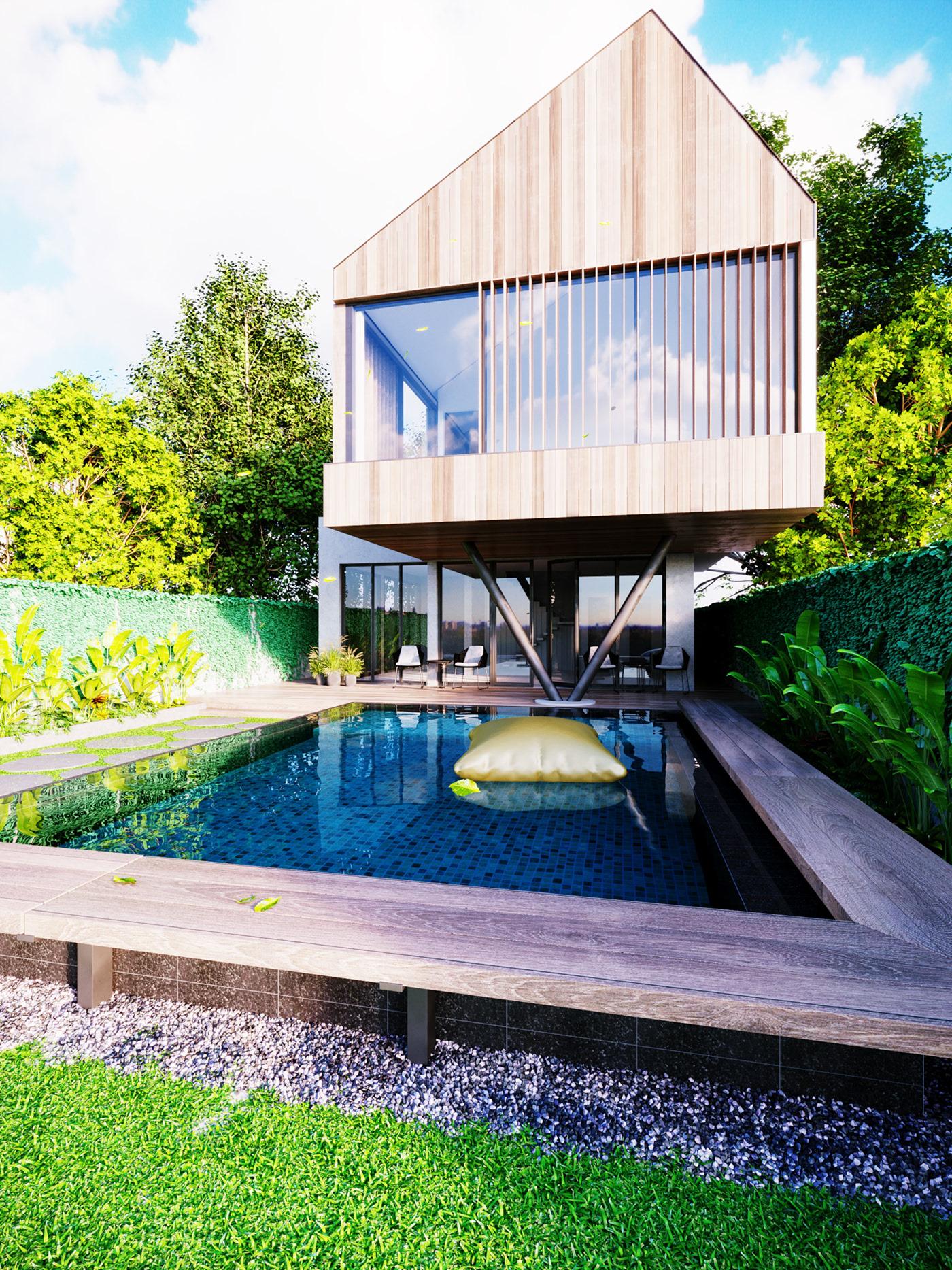 Thiết kế nội thất Biệt Thự tại Long An villa gia phú viên 1573618034 13