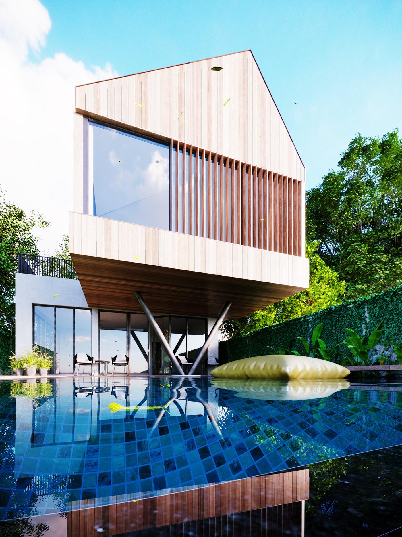 Thiết kế nội thất Biệt Thự tại Long An villa gia phú viên 1573618034 17
