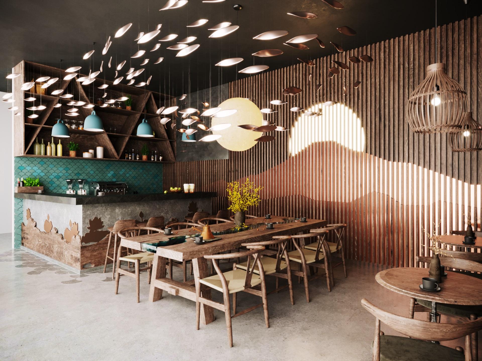 thiết kế nội thất Cafe tại Hà Nội caffee koi 1 1569649984