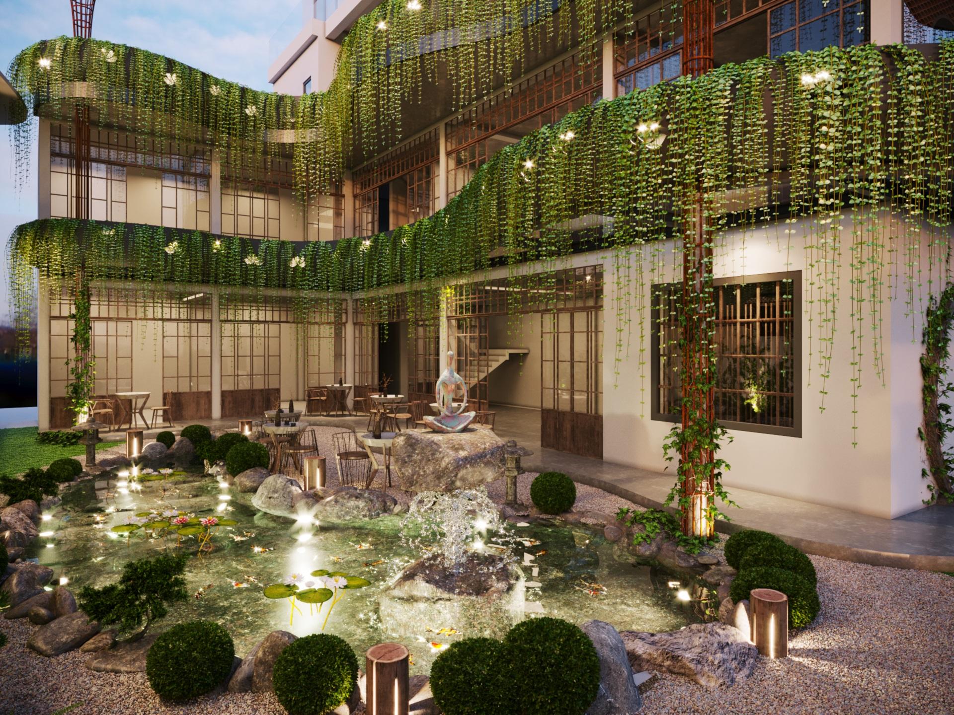 thiết kế nội thất Cafe tại Hà Nội caffee koi 12 1569649988