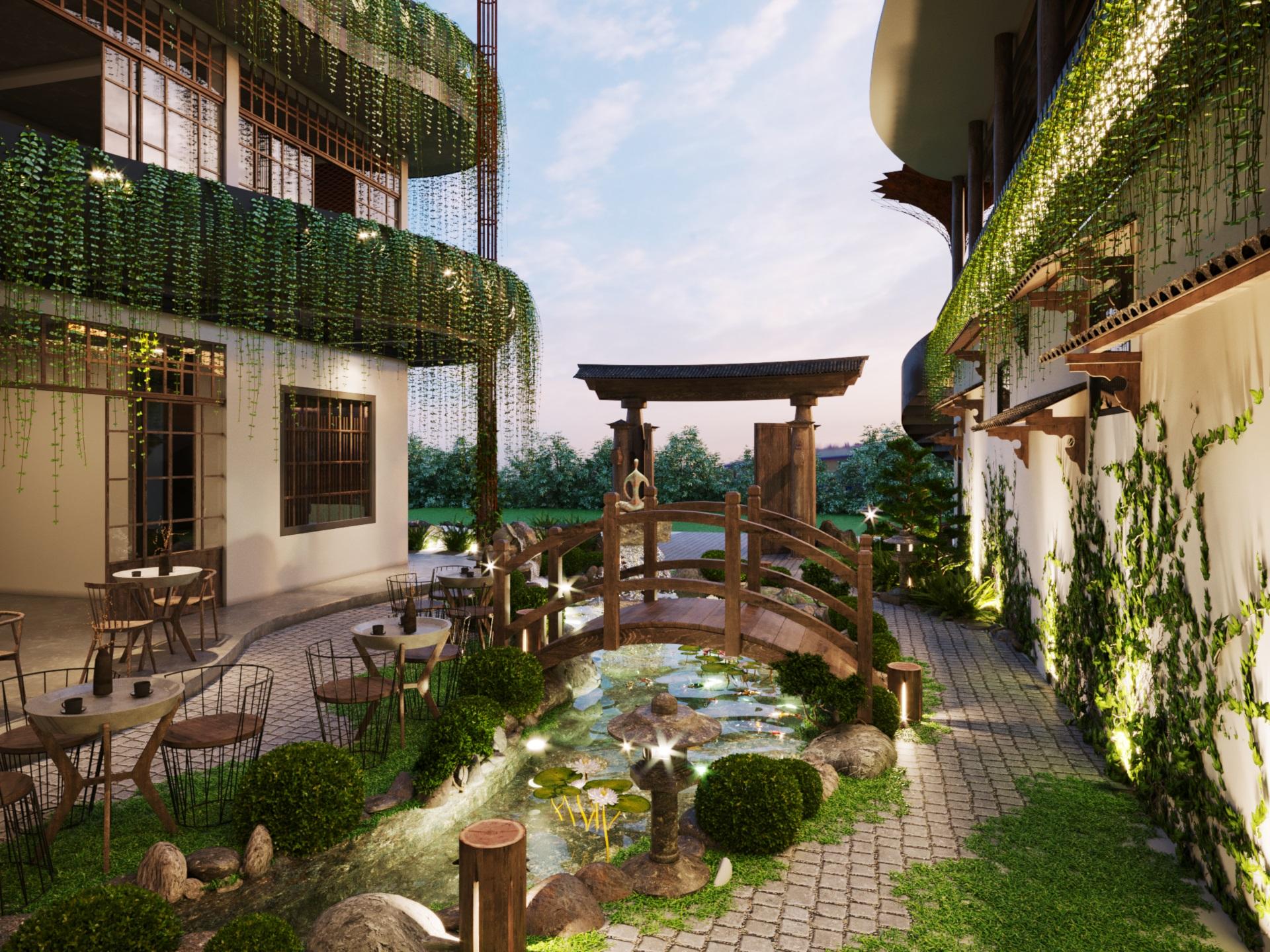 thiết kế nội thất Cafe tại Hà Nội caffee koi 14 1569649990
