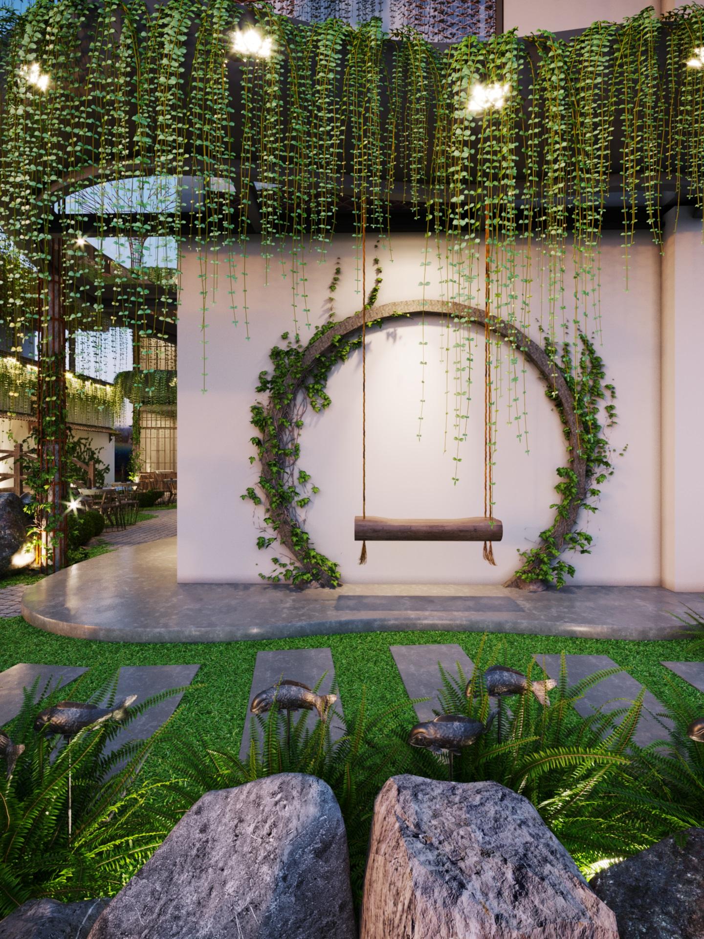 thiết kế nội thất Cafe tại Hà Nội caffee koi 16 1569649991